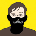 Presenting the Gentleman Moustache Face Mask, from Prima