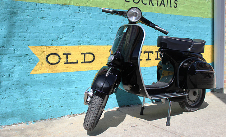 This 1966 Vespa VBC was has been restored and is ready for the next 48 years of its life.